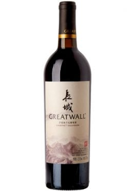 Great wall dry red wine