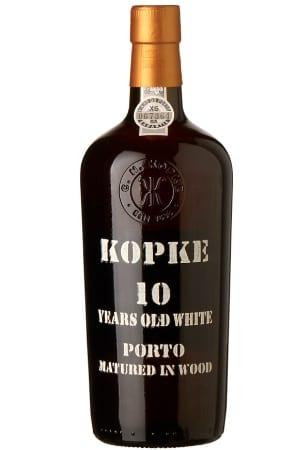 Kopke 10 years white on wood
