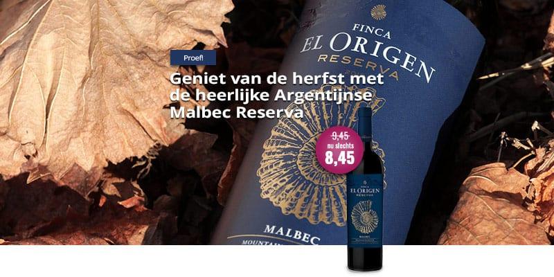 Finca el Origen Malbec Reserva   Wijnspecialist