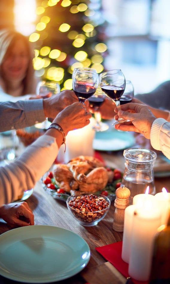 wijn bij kerst groot