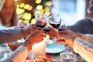 wijn bij kerst klein